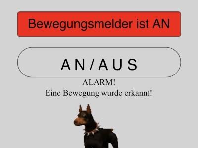 Webinterface  showing alarm