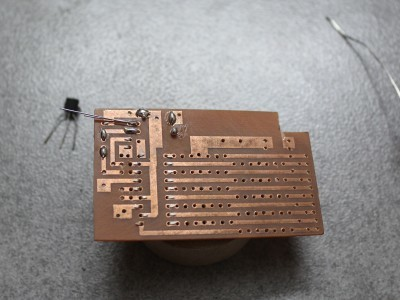 After etching the PCB