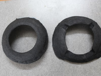 a black jute cloth is used to cover the PVC stands