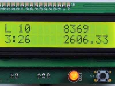 Display shown of Improved Radiation Meter 110538-1 v2.2