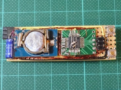 Spider web with cheapy chinese clock module and ATmega328P.