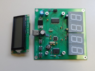 The populated PCB. The display covers some components so it's removed here.