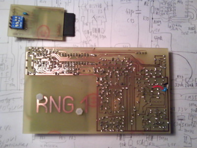 prototype PCB, bottom side