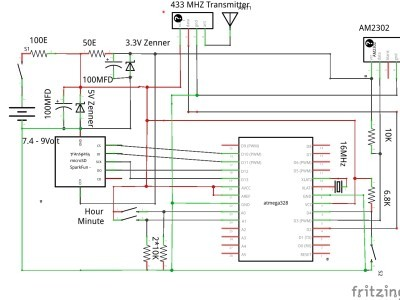 Fridge sniffer with data logger and time set