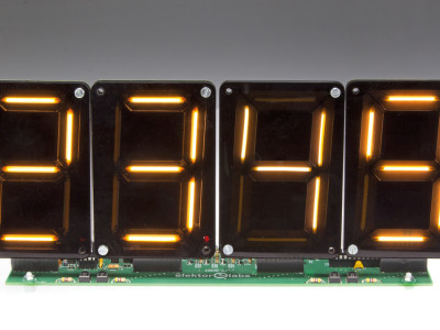 Clock / scoreboard / timer  with LEDitron modules (180533 / 160205)