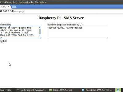 Raspberry Pi powered SMS server