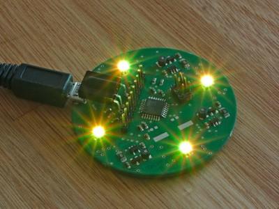 Mini IR Controlled RGB LED Lamp With 5 V Input [130268-I]