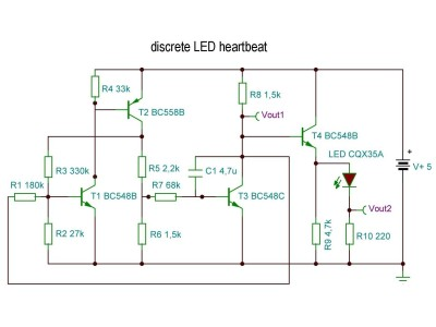 LED heartbeat