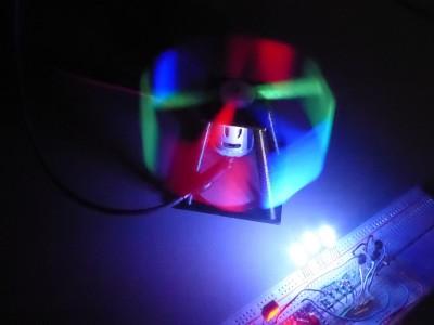 Arduino RGB color stroboscope