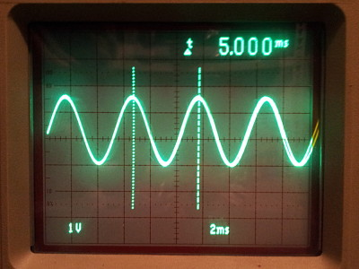 Sine generation by an IIR filter approach on low-cost 8 bit MCU's