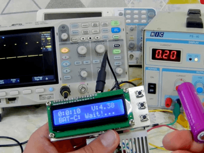 Battery capacity measurement using Arduino [Lithium-NiMH-NiCd]