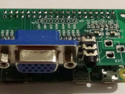 VGA & audio interface for Raspberry Pi Zéro