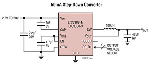 Image of Linear Technology LTC3388-1/-3 typical application schematic