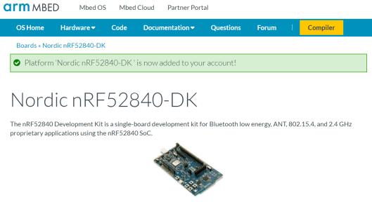 Arduino Primo seen as a Nordic nRF52840-DK
