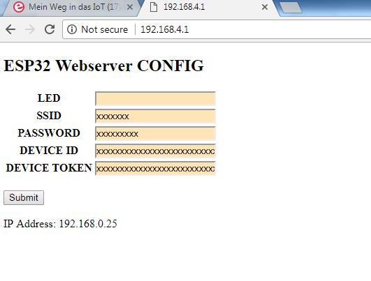 My Journey into the Cloud (22): ESP32 sensor node with web server