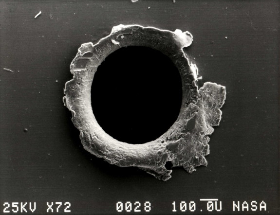 hole in spacecraft
