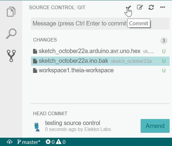 Arduino Pro IDE has Git inside