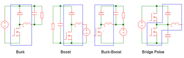 Image of four basic power switching circuits