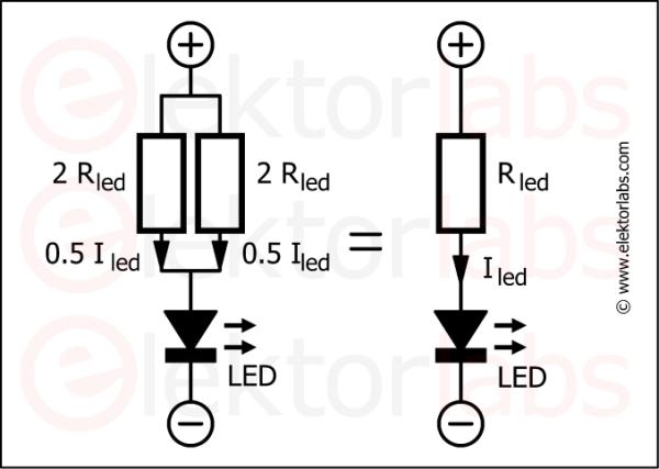 LED resistors in parallel