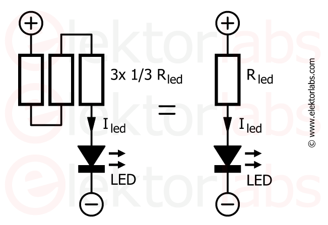 LED resistors in series