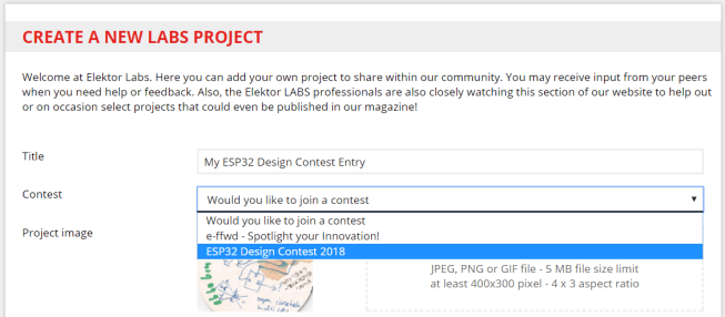 elektor labs create contest entry