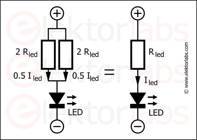 LED resistors in parallel