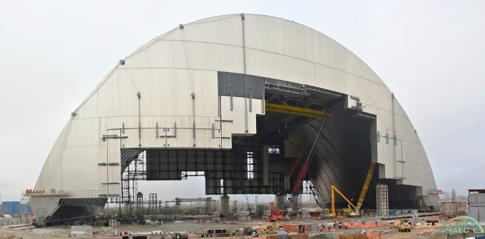 New Safe Confinement construction.
