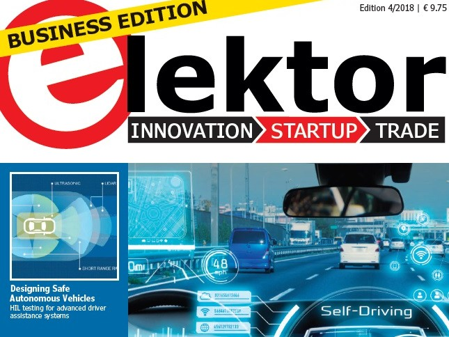 Elektor Business Edition 4/2018 Now Available: Automotive