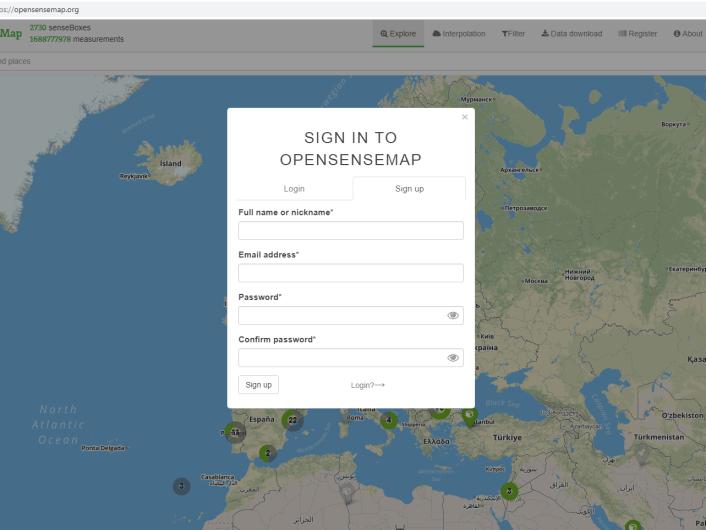 ESP32-Sensordaten anzeigen auf openSenseMap