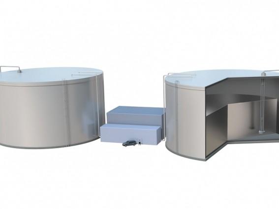 Energiespeicher aus flüssigem Silizium. Bild: Duncan MacGruer / MIT.
