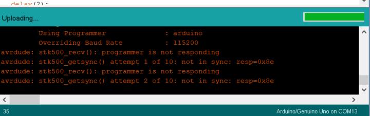 Arduino IDE upload error