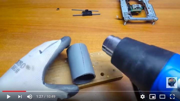 Building teh CNC Machine needs PVC and heat gun