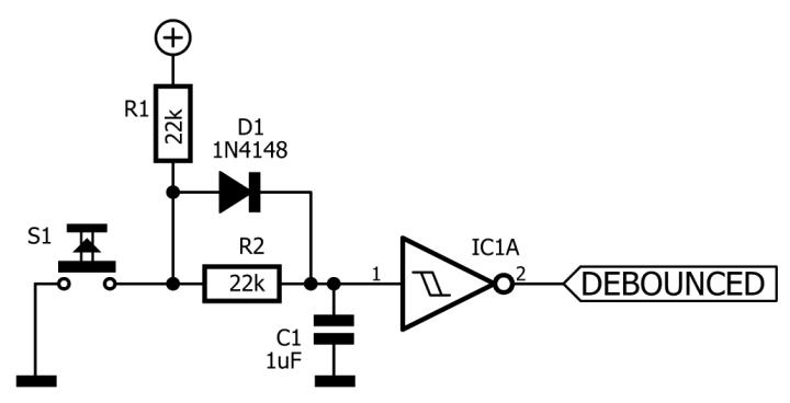 RC debounce network