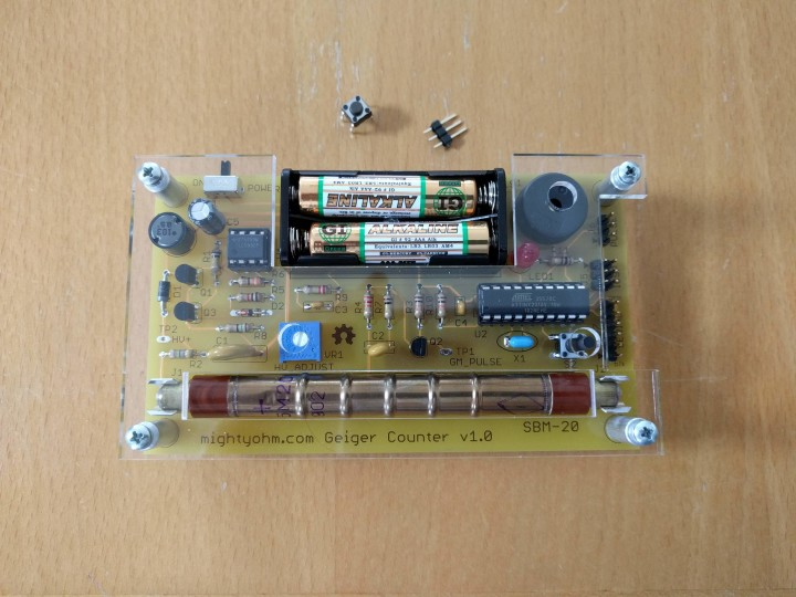 MightyOhm Geiger Counter assembled