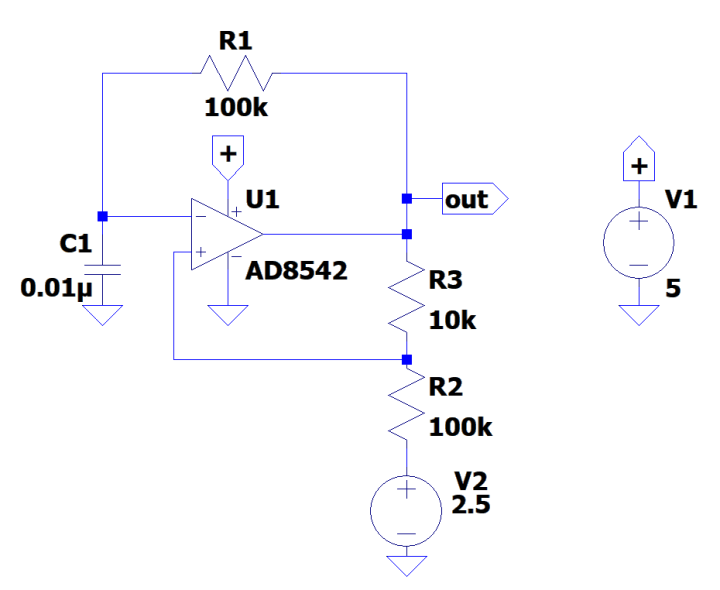 Single-opamp oscillator