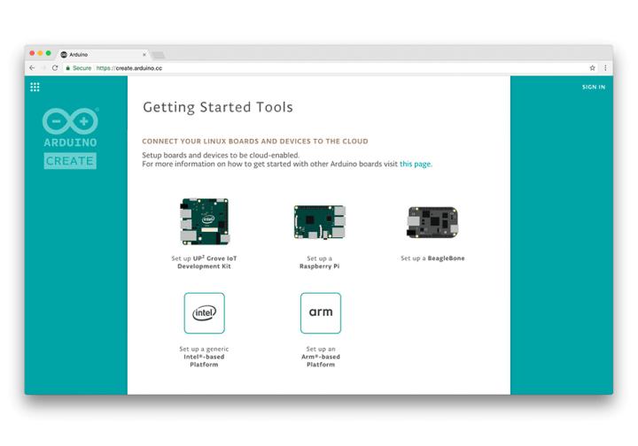 Arduino Create Linux Platforms