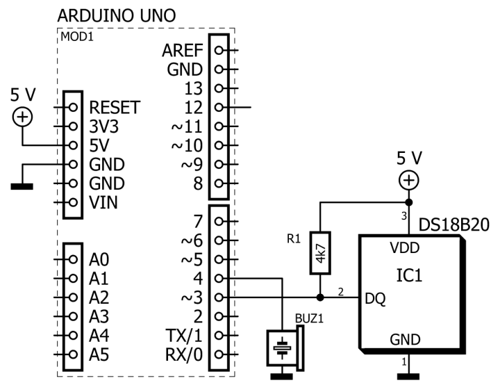 schematic of thermometer cricket emulator