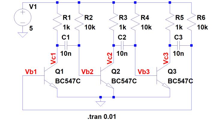 3-stage multivibrator