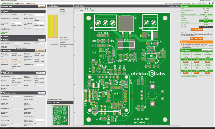 PCB Visualizer, PCB Configurator en PCB Checker