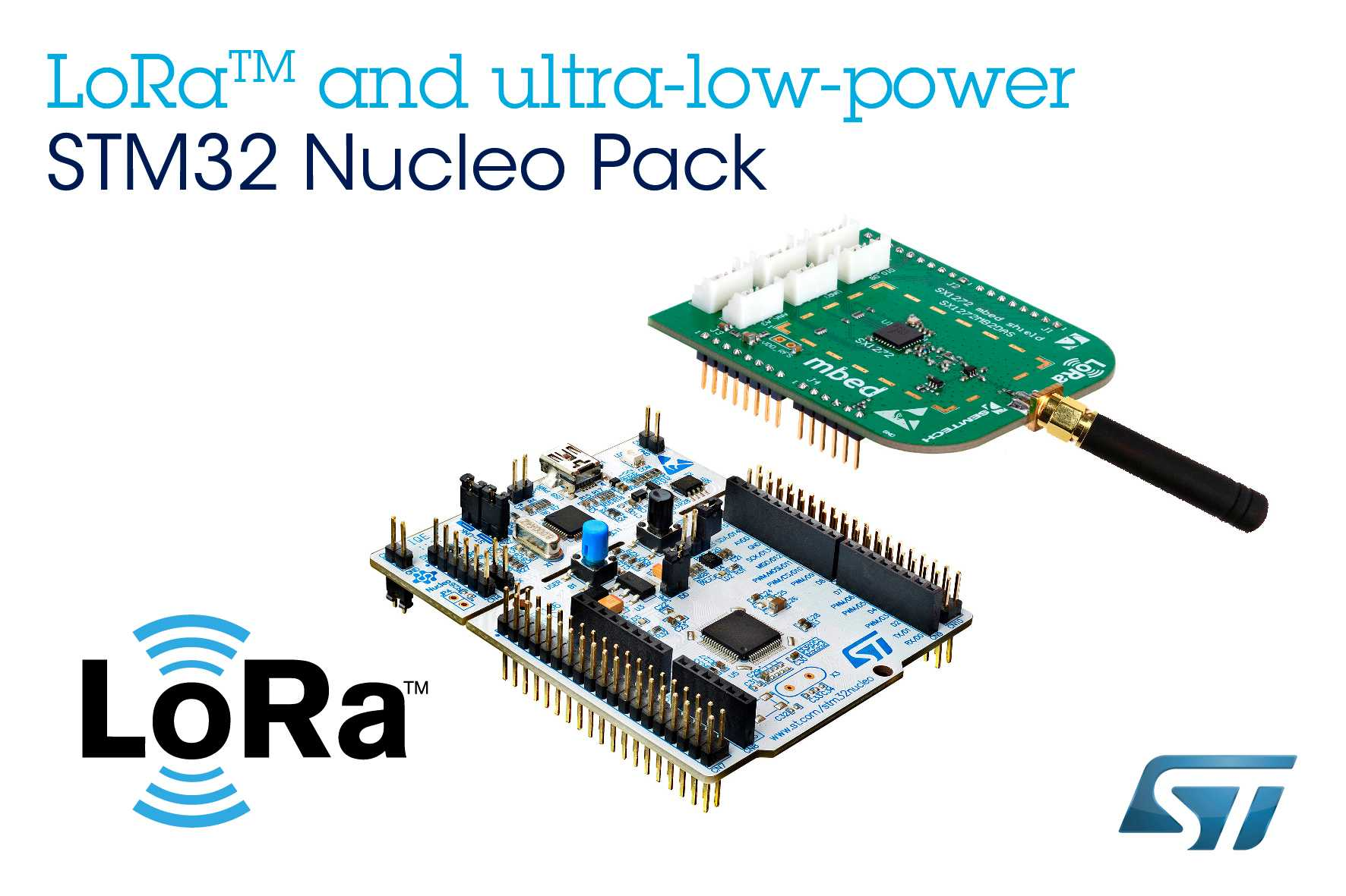 LoRa and ultra-low-power STM32 Nucleo Pack from STMicroelectronics