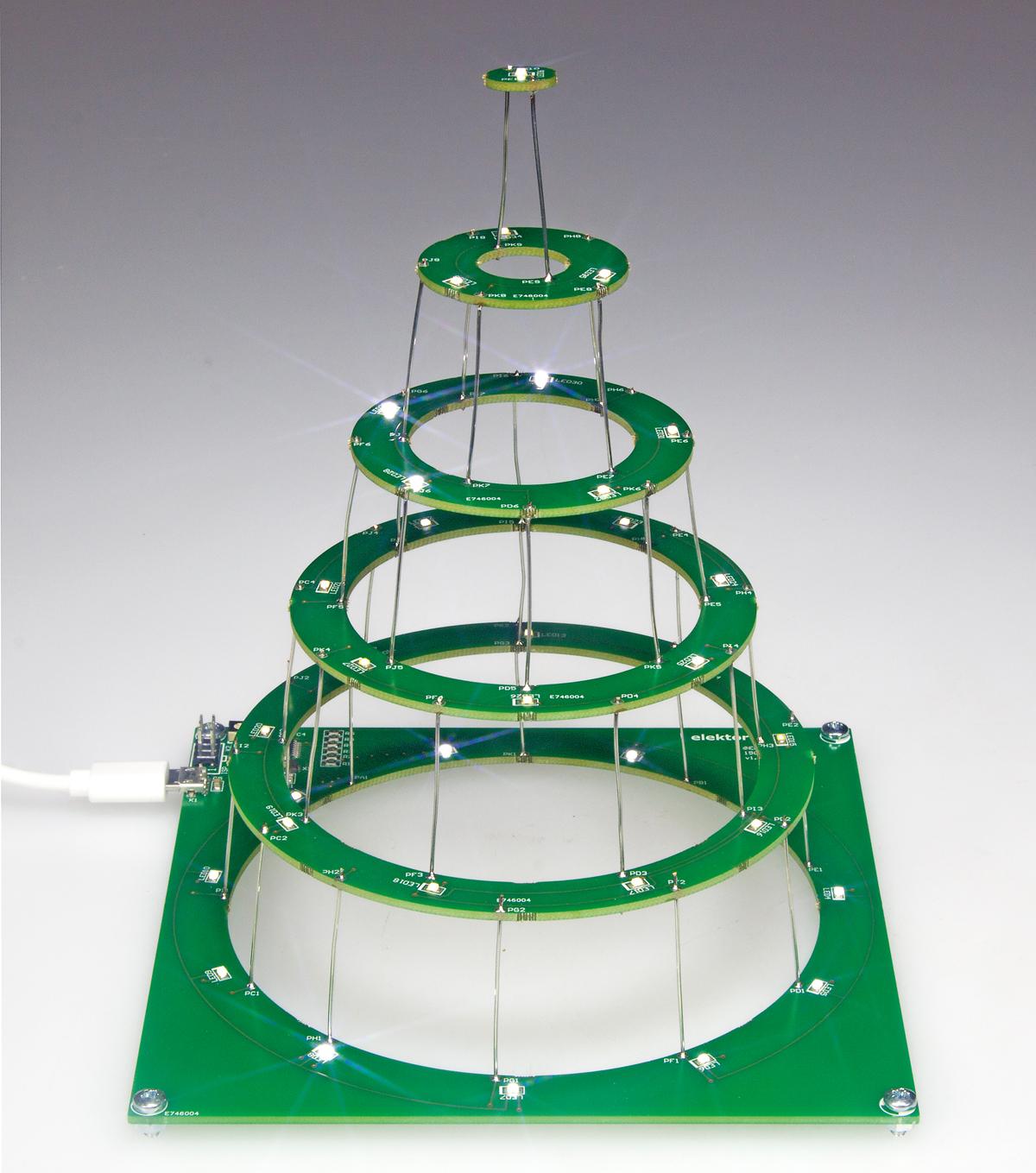 Circular Christmas Tree 150453 Elektor Labs Magazine Light Wiring Diagrams Test