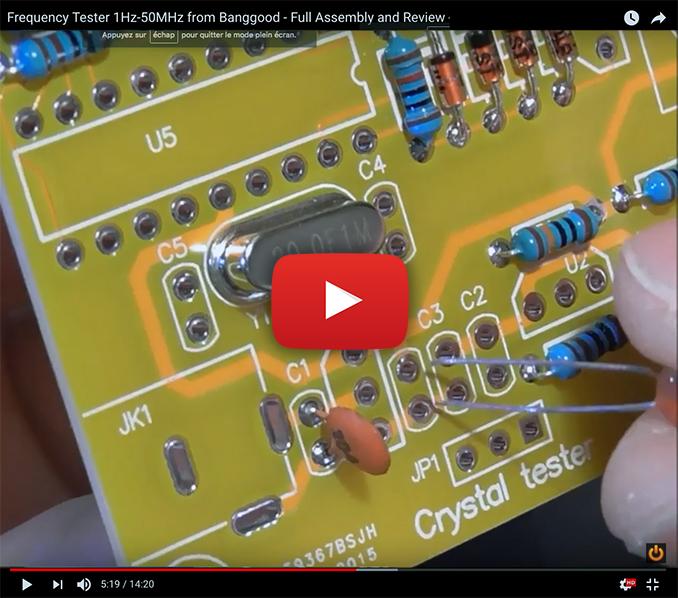 1Hz-50MHz Crystal Oscillator Tester Digital LED Frequency Counter Meter DIY Kits