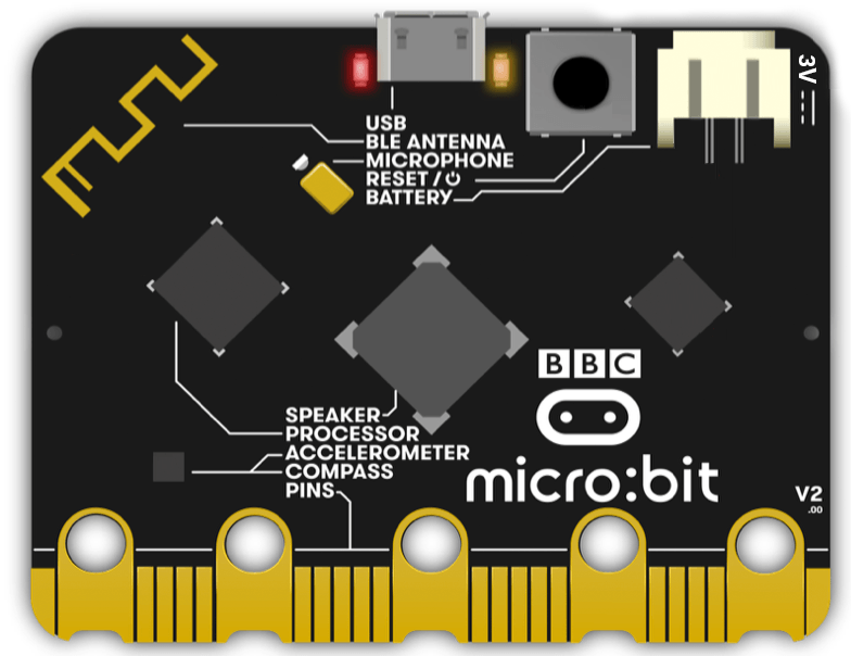 New BBC Micro:bit V2 with Built-In Speaker, Microphone and Touch Sensor |  Elektor Magazine