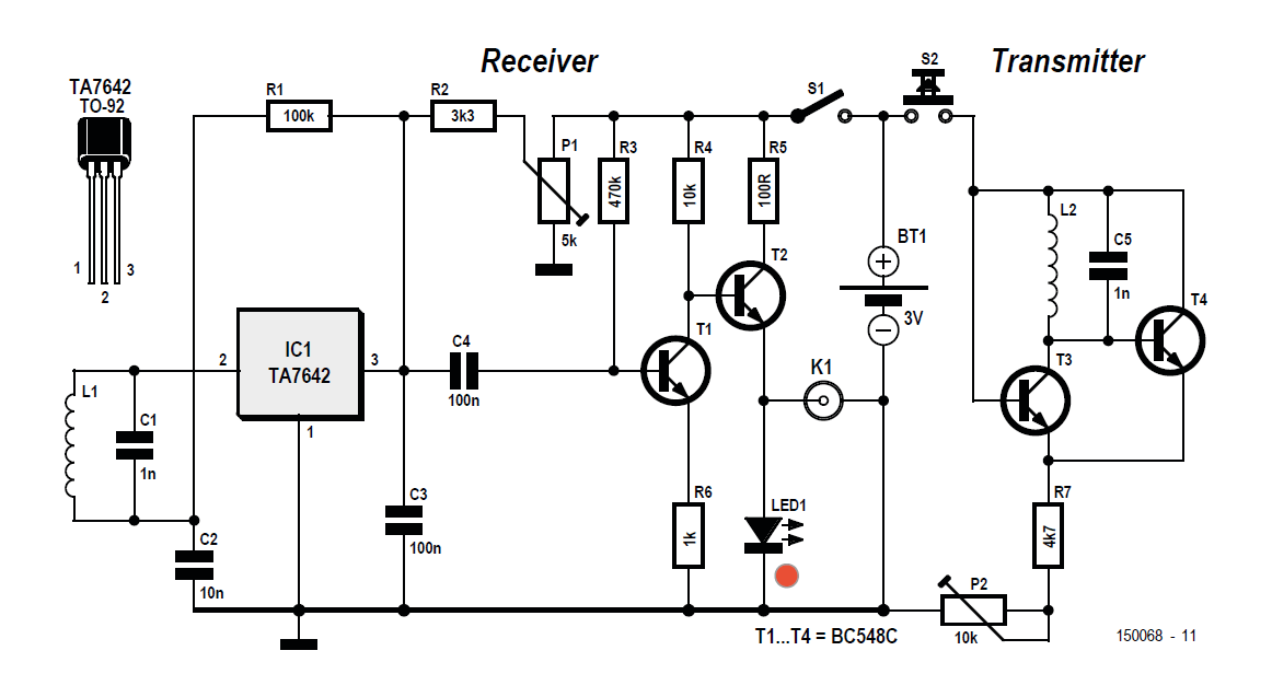 The diagnostic tool circuituses a transmitter andreceiver