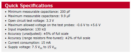 Capaci-Meter capacitance meter