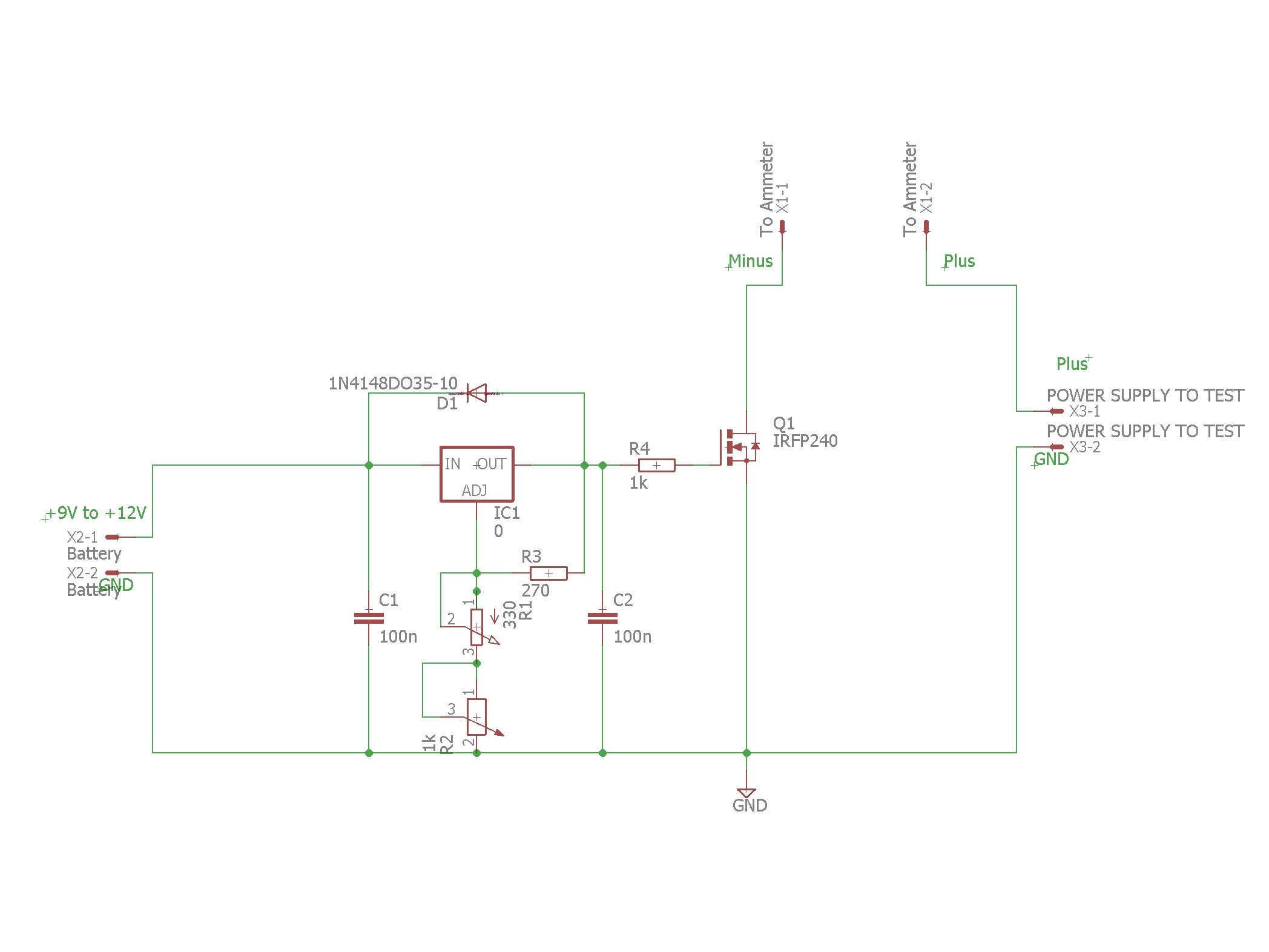 Adjustable Electronic Load Elektor Labs Magazine Fet Voltmeter Circuit Schematic Diagram
