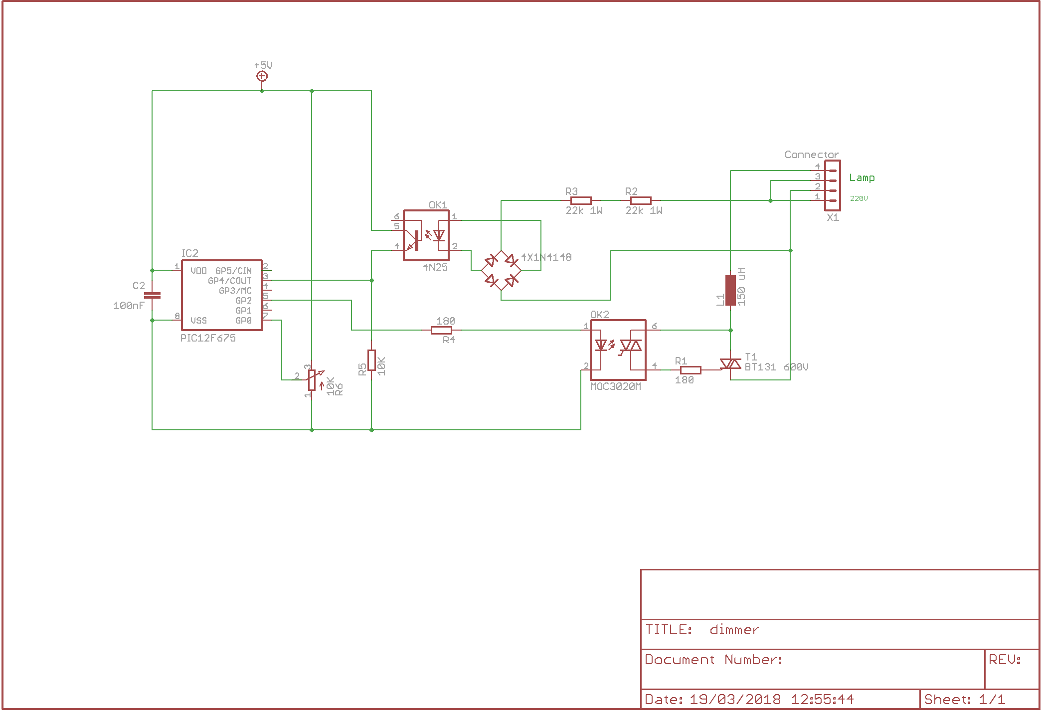 230v Ac Dimmer Mains Isolated Using P12f629 Elektor Labs Triac Valve Wiring Diagram Magazine