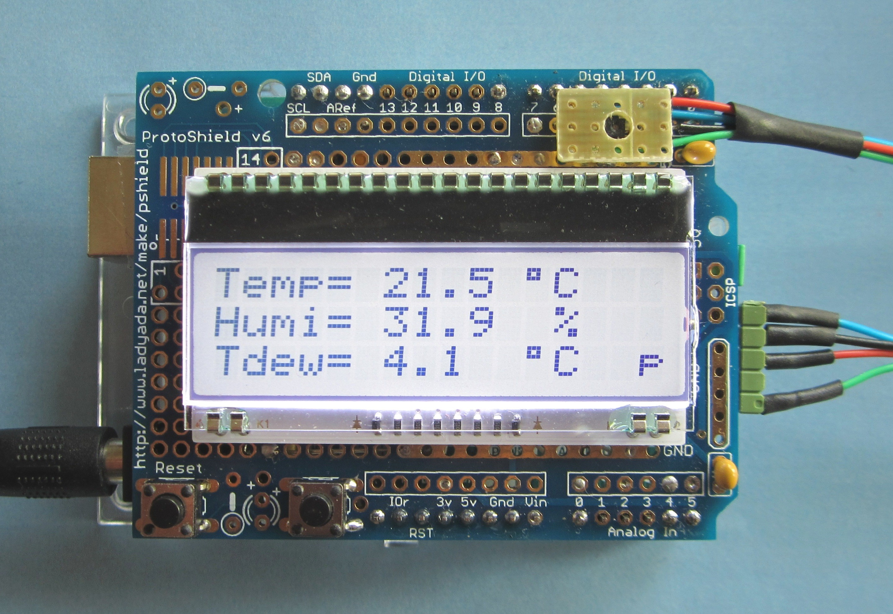 Measuring dew point, temperature and humidity with ENS210 and