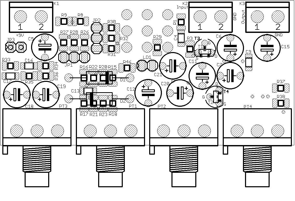 Ota Overdrive 2 None Opamps Elektor Labs Magazine Univox Super Fuzz Schematic