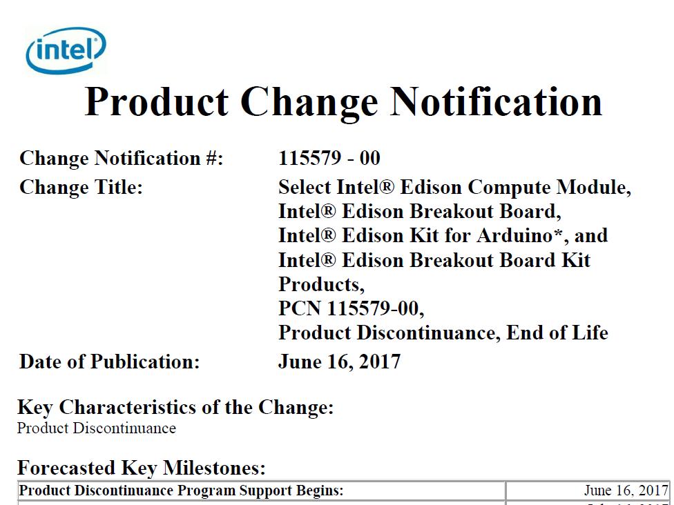 Intel discontinues Galileo Edison Joule Recon Jet 2